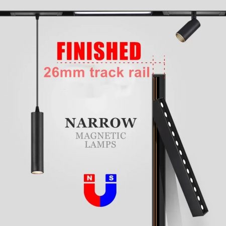 magnetic track light track rails
