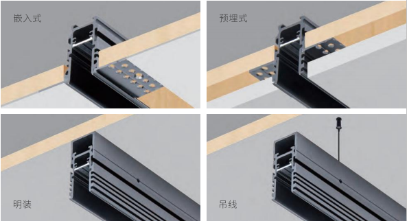 4 in 1 magnetic track rails