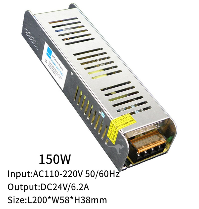 12V 24V Power Suppy 60W 100W 200W 300W Transformer AC110-220V To DC12/24V 5A 10A 15A 20A Regulator Voltage Switching Power SMPS