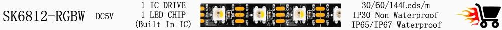 WS2812B Smart RGB LED Strip WS2812 Individually Addressable LED Light 30/60/144Leds Black/White PCB Waterproof IP30/65/67 DC5V