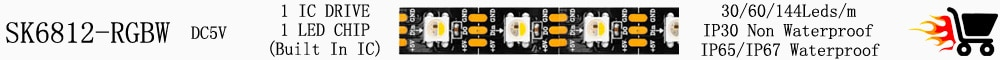 DC12V WS2815 (WS2812B Updated) RGB LED Pixels Strip Light Individually Addressable LED Dual-Signal 30/60/144 Leds/m