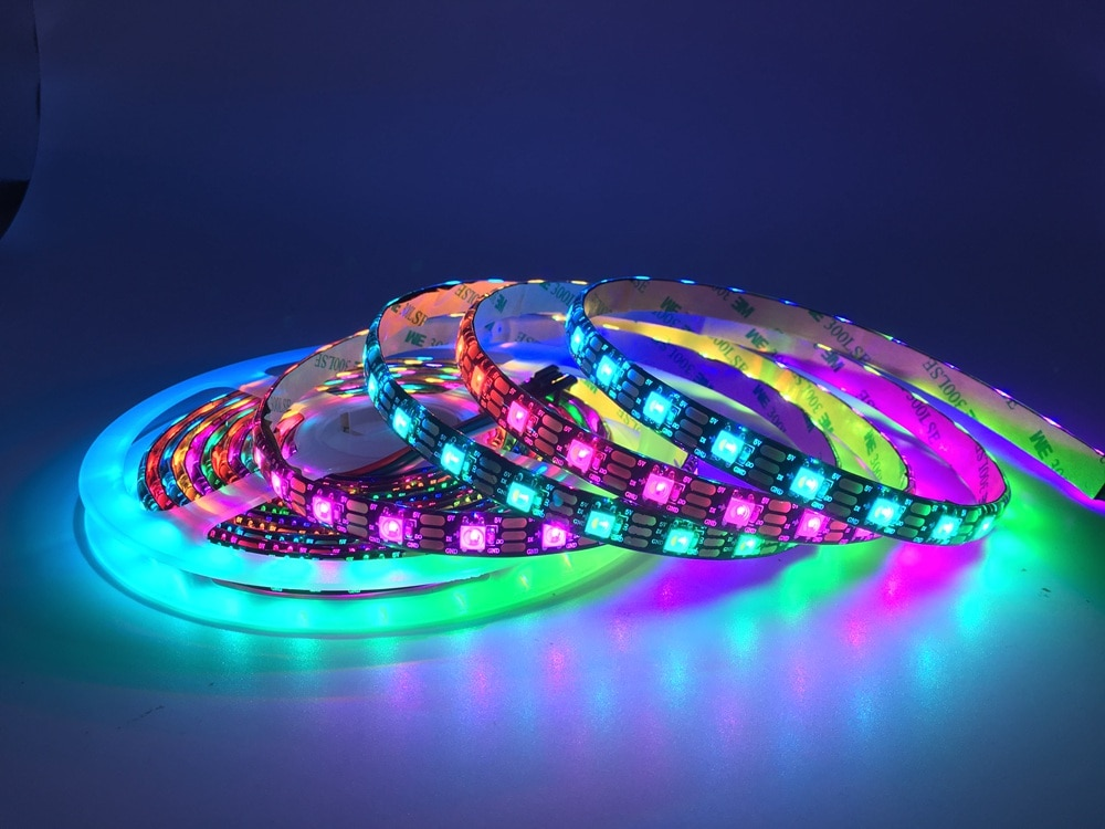 SK6812 RGBW (Similar WS2812B) 4 In 1 30/60/144 Leds/Pixels/m Individual Addressable Led Strip CW NW WW IP30/65/67 DC5V