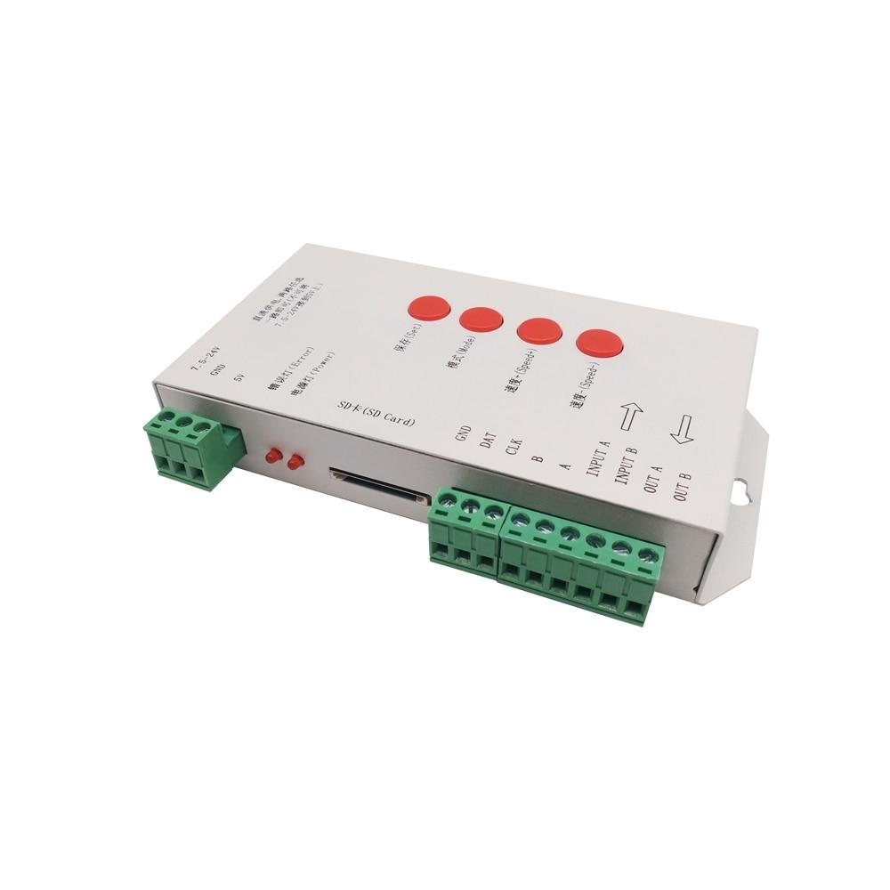 RGB LED Controller T1000S SD Card 2048Pixels Controller For WS2801 WS2811 WS2812B SK6812 LPD6803 DC5~24V