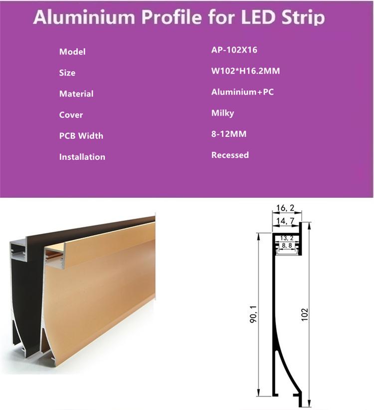 Strip Baseboard Skirting Line Cement Wall Base ceramic tile Panel Holder Light Diffuser