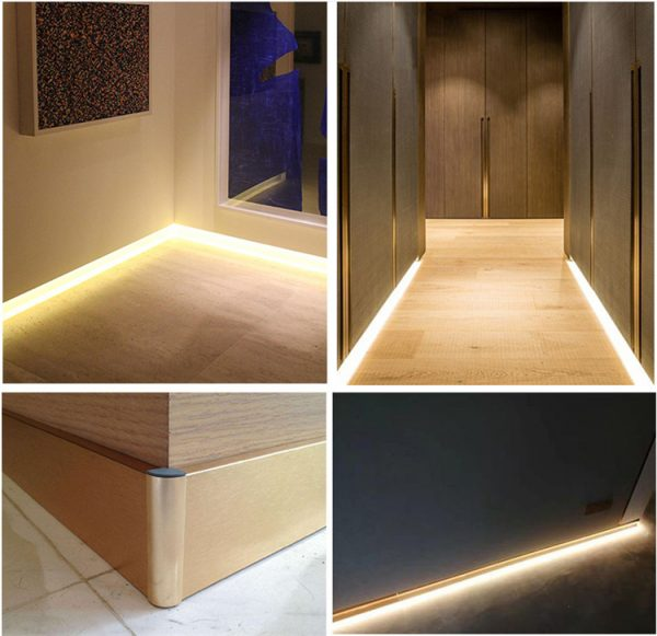 Strip Baseboard Skirting Line Cement Wall Base ceramic tile Panel Holder Light Diffuser