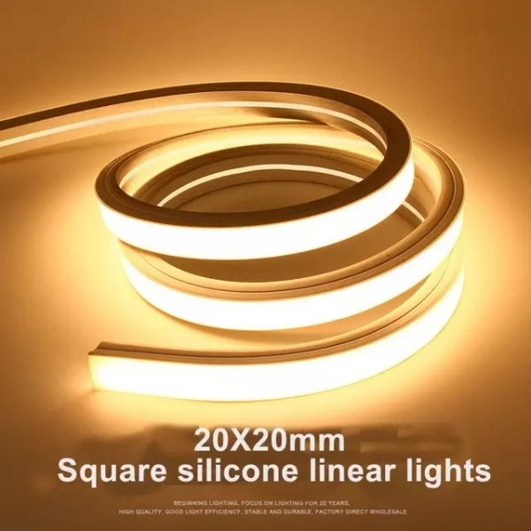 20X20 square silicone linear lights