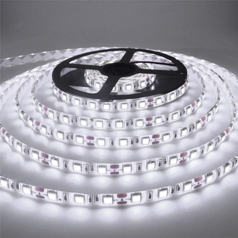 5M / Roll led strip 2835 Luminous Flux More Higher Than Old 3528 5630 5050 SMD LED Strip light 60LEDs/M 12V lamp String Decor