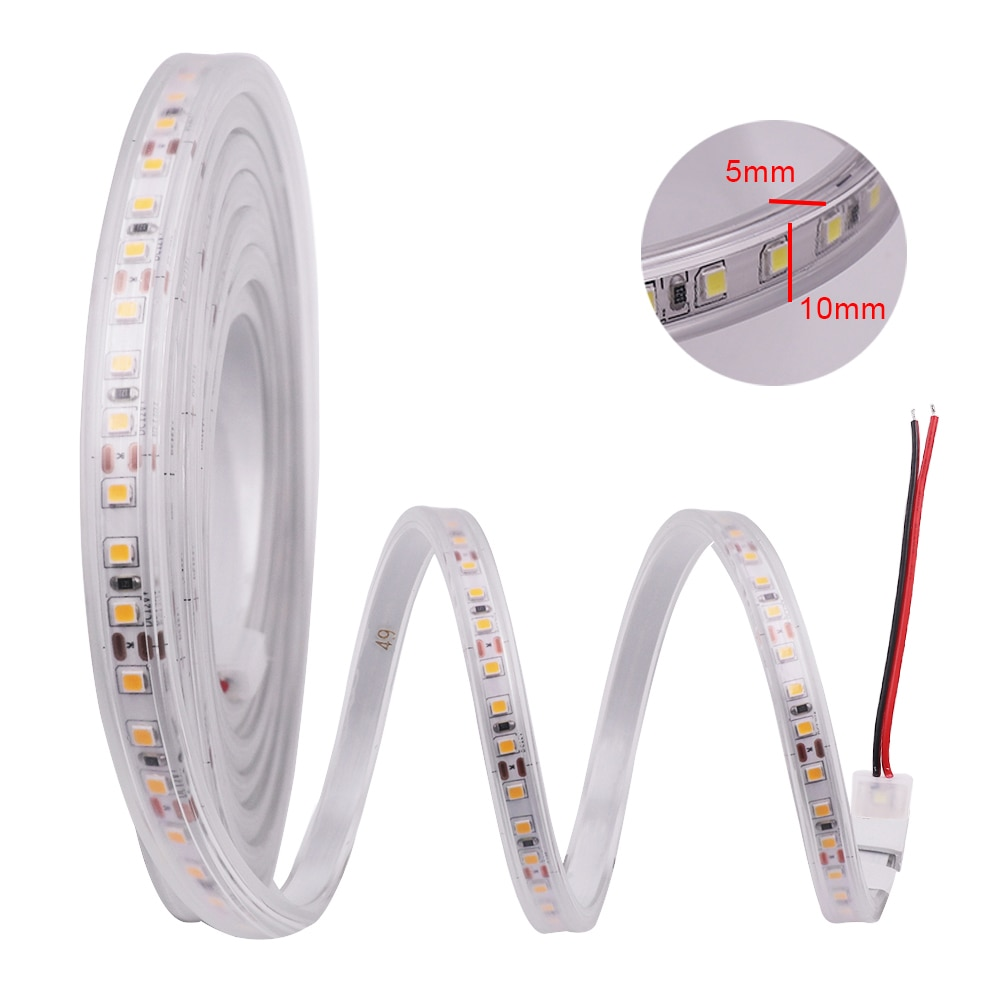 DC 12V Dimmerable 2835 LED Strip 120LEDs/m IP67 Waterproof White 6000K /Warm White 3000K Flexible Tape LED Light Lamp
