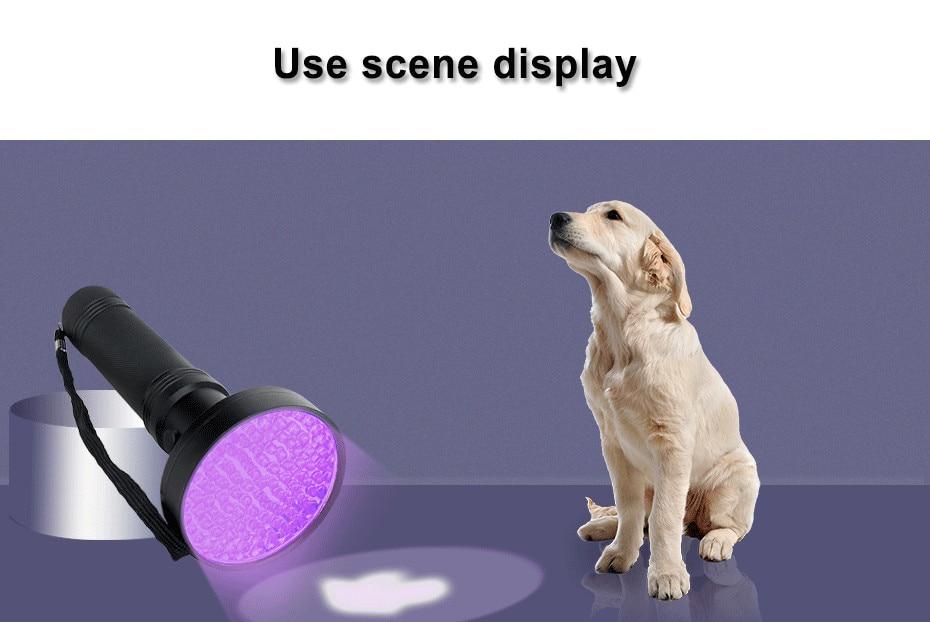 High quality UV Light 100LED 51LED Q5LED UV Light Zoom Flashlight torch light lamp safety UV Ultraviolet detection AA battery A1