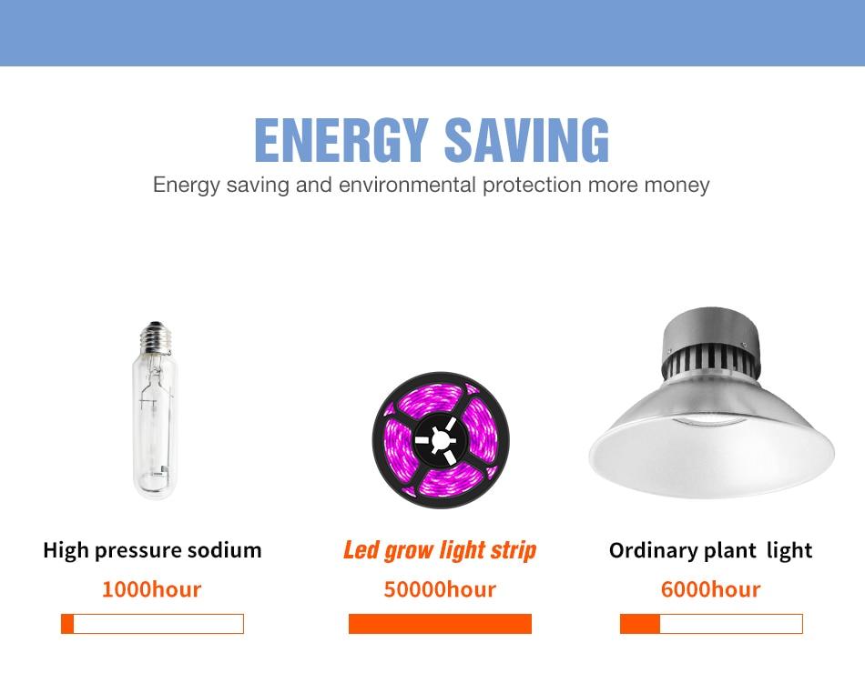 USB LED Grow Lamp Full Spectrum Plant Light Strip 0.5M 1M 2M 3M LED Phyto Fito Bulb LED Lamp Hydroponic Garden Plants Growing