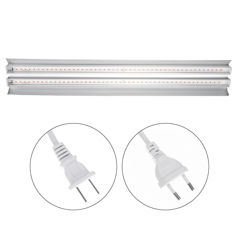 New LED Grow Lights 200W Full Spectrum Growing LED Lamp Lighting 50cm Double tube plant chandelier for Hydroponic Indoor Plants