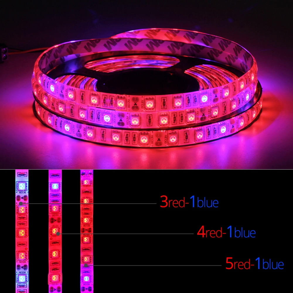 5M LED Phyto Lamps Full Spectrum LED Grow Light 300 LEDs 5050 Strip LED Fitolampy Grow Lights For Greenhouse Hydroponic plant