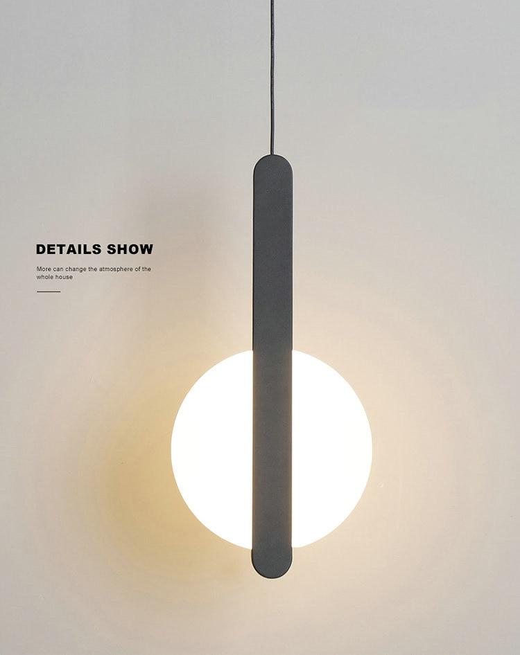 Modern Scandinavian High Ceiling LED Pendant Lamp for Bedside Living Room Lighting Long Cable Suspension Luminaire Design