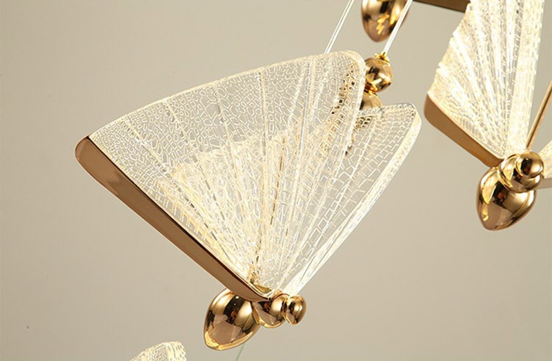 2021 New Butterfly lamp Nordic bedside chandelier luxury staircase lamp modern minimalist bedroom lamp hall restaurant art lamp