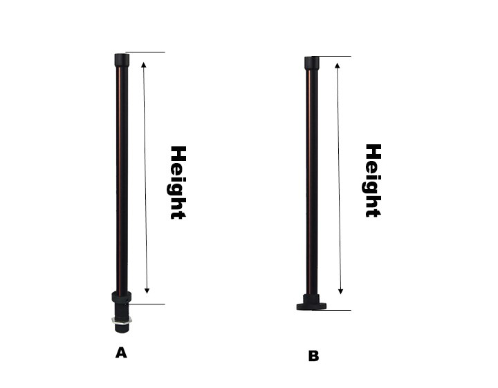 Round Track Pole or Rail 500 mm for Magnetic Track Pole Lighting Jewelry led lighting Display Showcase Light
