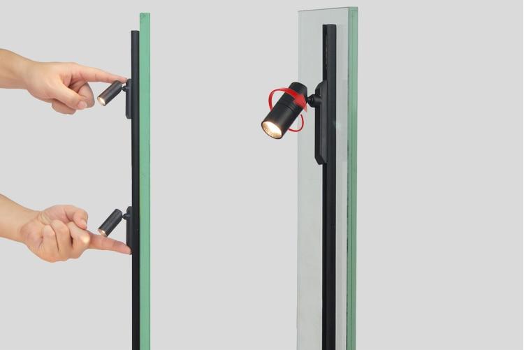 Mini Magnetic Showcase Track Lighting Jewelry Display Cabinet Spotlight