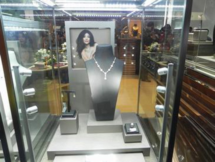 Led Showcase Light 2w 3w 5w 220V Adjustable spotlights Exhibition DC12V Led Mini 20cm Jewelry Display Light For Diamond Store