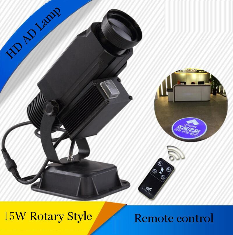 15W Rotary style advertising projecting lamp,stage lamp,LOGO laser lamp, With the remote control free design,freeshipping