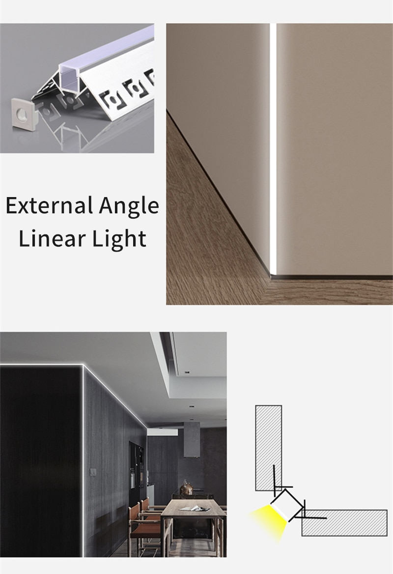 1M 10W Embedded LED Linear Bar Lamp Recessed Aluminum Profile SMD Black/White Silicone Cover Foyer Kitchen Indoor Strip Lighting