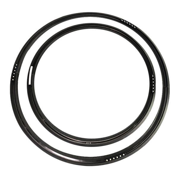 circle magnetic track rails