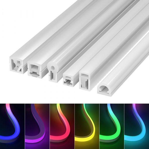 square neon tube lights