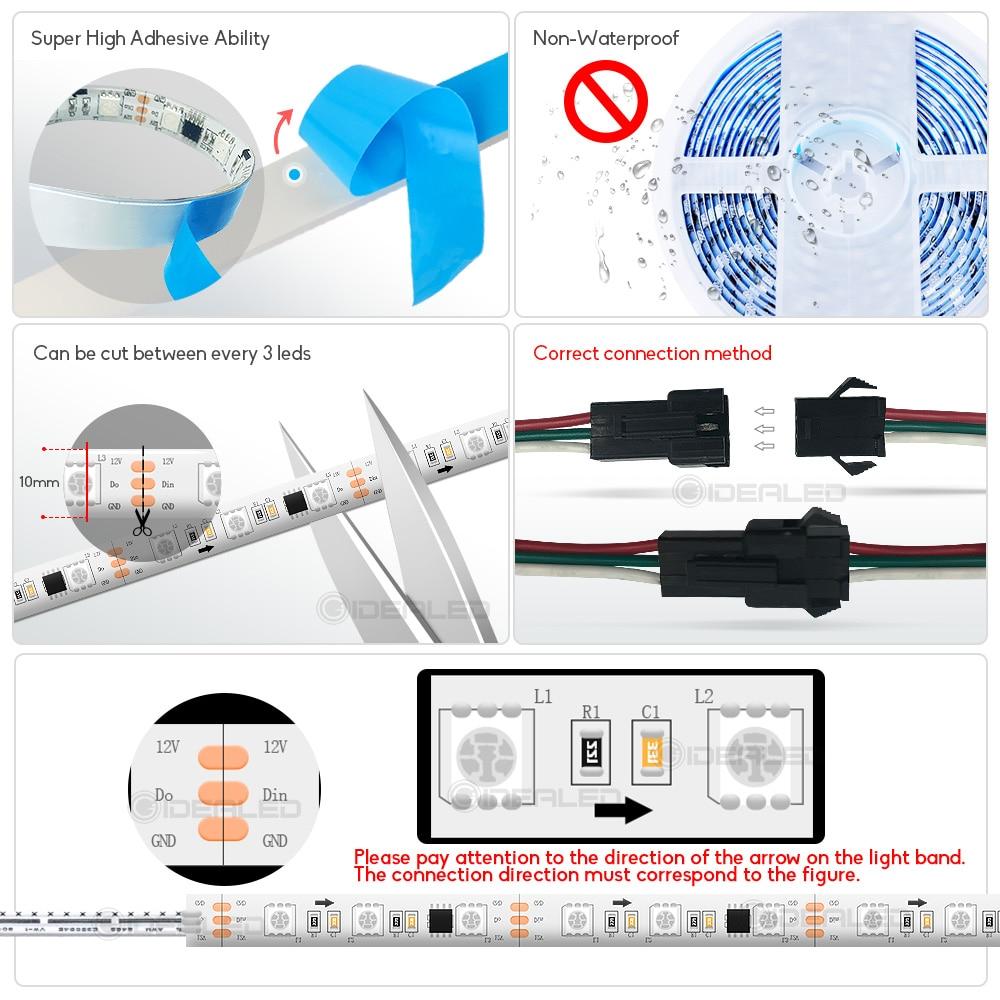 PIR Motion sensor light strip mini control Stair streamline under cabinet night light Addressable LED Strip Tape for the stair