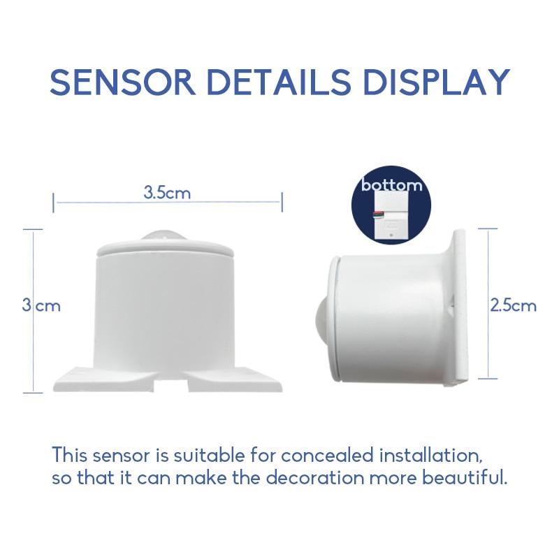 LED Motion Sensor Light Strip Stair Dimming Light Wireless Indoor Motion 12V Flexible LED Strip Step Staircase Lamp Running