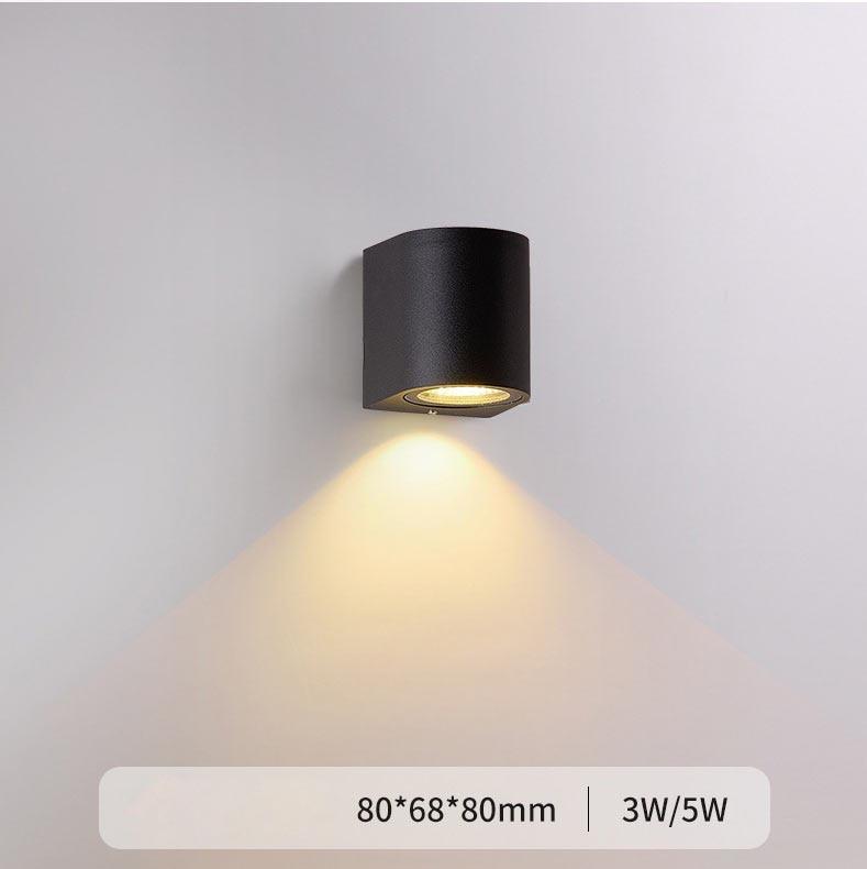 Led Wall Lamp Modern Indoor Stair Lights Fixture Bedside Loft Living Room Up Down Home Hallway LED Garden Porch Light