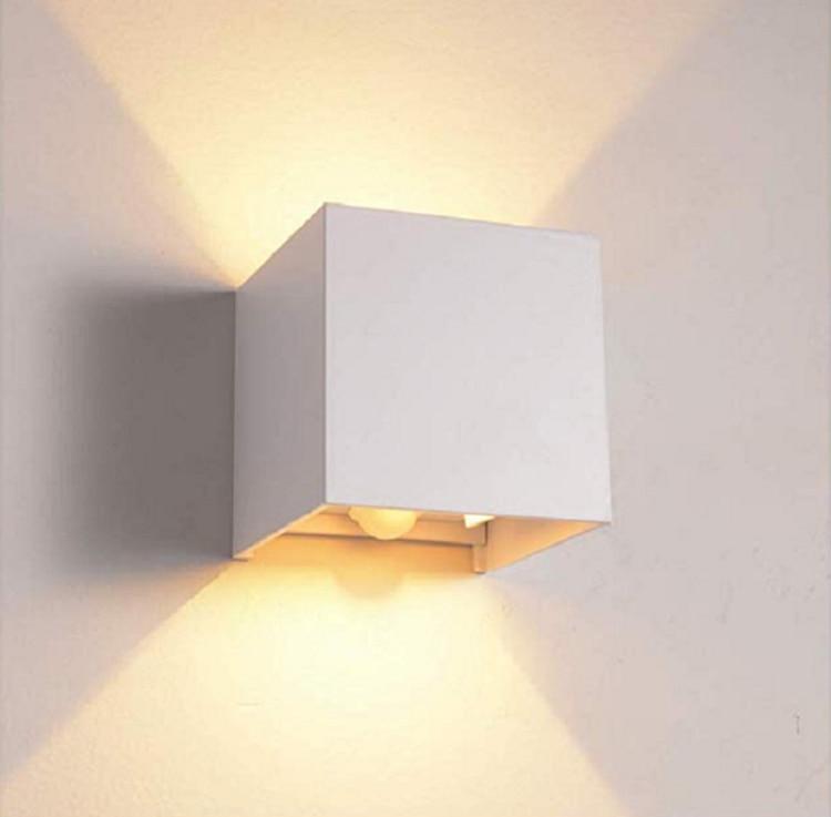 Outdoor indoor Wall Lamp Motion Sensor Led Aluminum COB IP65 Waterproof Modern Wall Light Living Room Porch Decoration Lighting