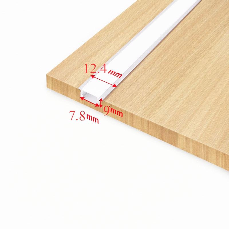 Built-in cabinet aluminum alloy light bar Laminate lighting strip Slotted LED lighting for cupboard Showcase wardrobe Locker