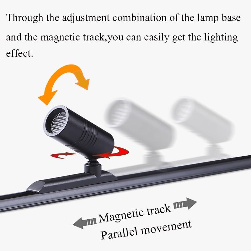 Super Mini Showcase Cabinet Spotlight Track Magnetic Light 12V Universal Adjustment Exhibition Shopwindow Display Jewelry Watch