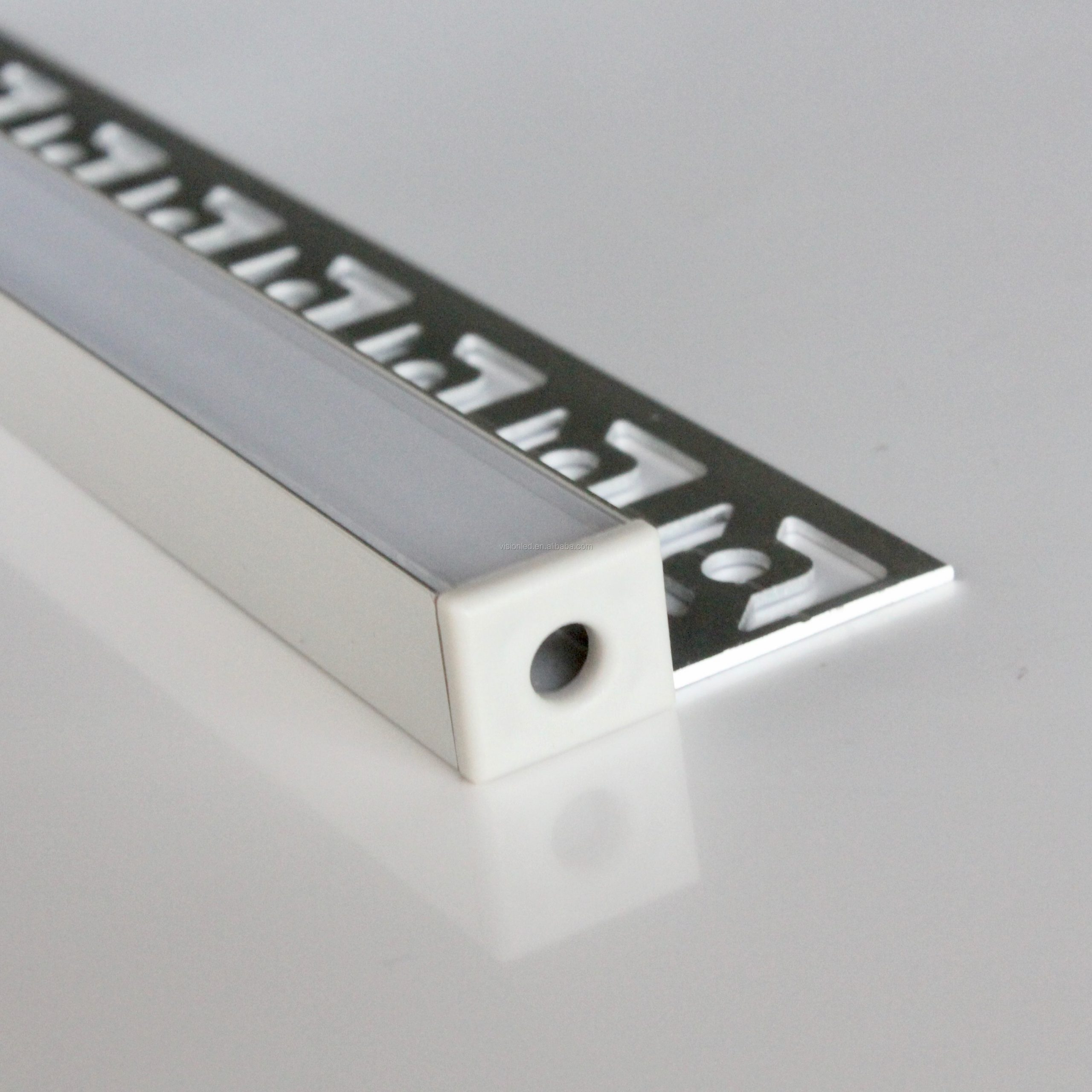 12m(12pcs) a lot, 1m per piece, aluminum extrusion profiles for led strips display with milky diffuse cover