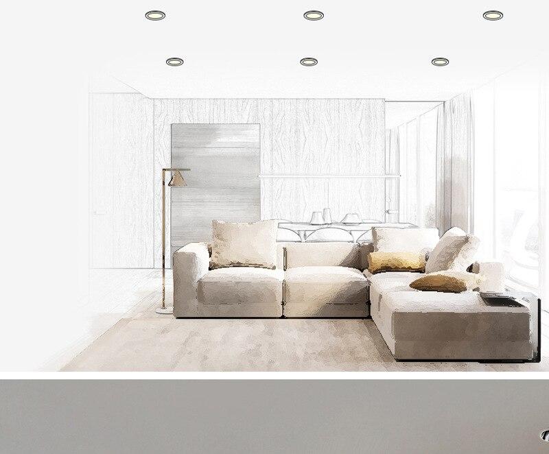 JOYINLED High-end Recessed Led Downlight Led Ceiling Light Hotel Home Deep Anti-glare Background Led Wall Washer Spotlight CRI90