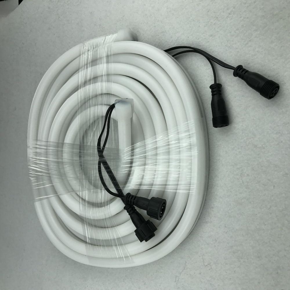 12mm*25mmm size,5m DC12V WS2811 60LEDs/m(20pixes/m) LED smart pixel neon strip;flexible;IP67 rated;13.5mm pigtials