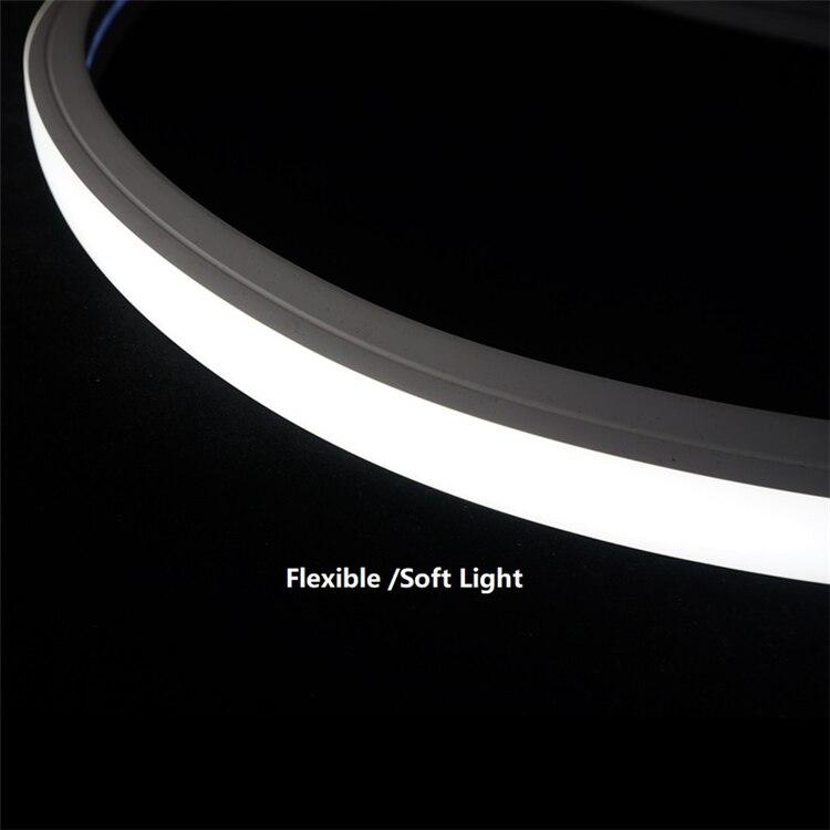 12VDC 30*20MM Neon Flex Tube,18W/M Double Row Tape Positive Emit Linear Strip,Flexible Silicone Recessed Landscape Outline Light
