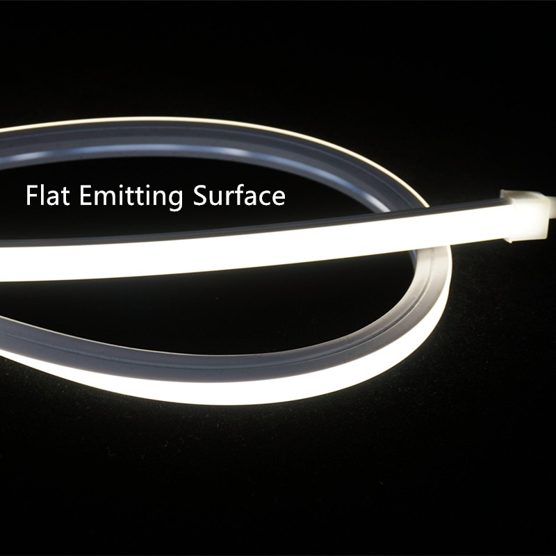 12VDC 10*10mm Neon Flex Tube,10W Flat Water Proof Linear Strip,Flexible Silica Gel Profile Landscape Outline Dimmable Rope Light