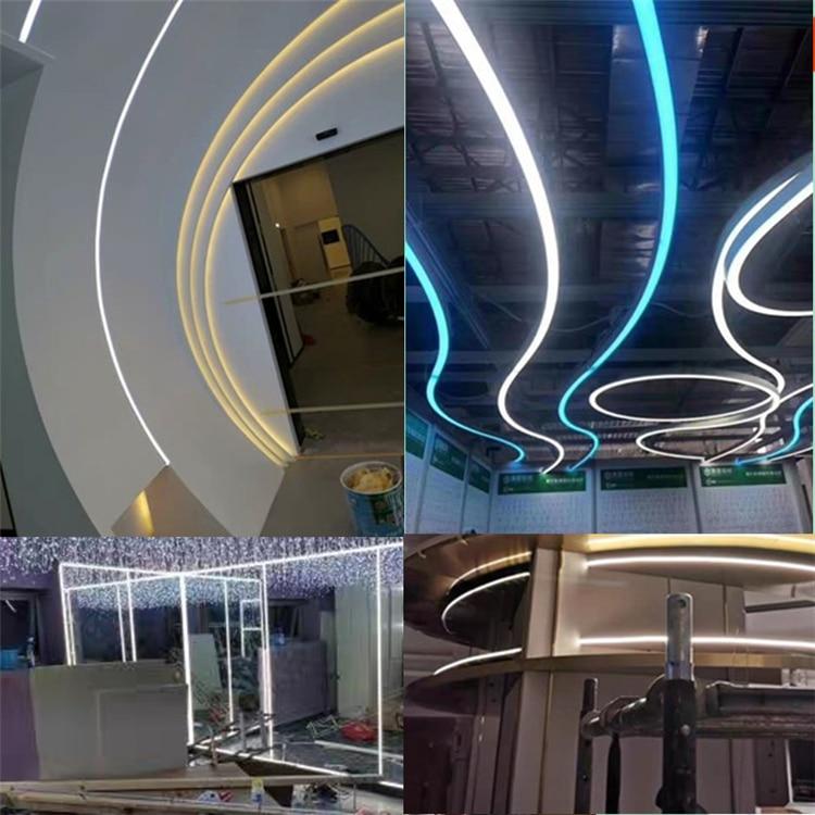 12VDC 15*15mm Neon Flex Rope,18W/M WaterProof Linear Strip,Flexible Silica Gel Landscape Outline 3 Side Emitting Line Bar Light