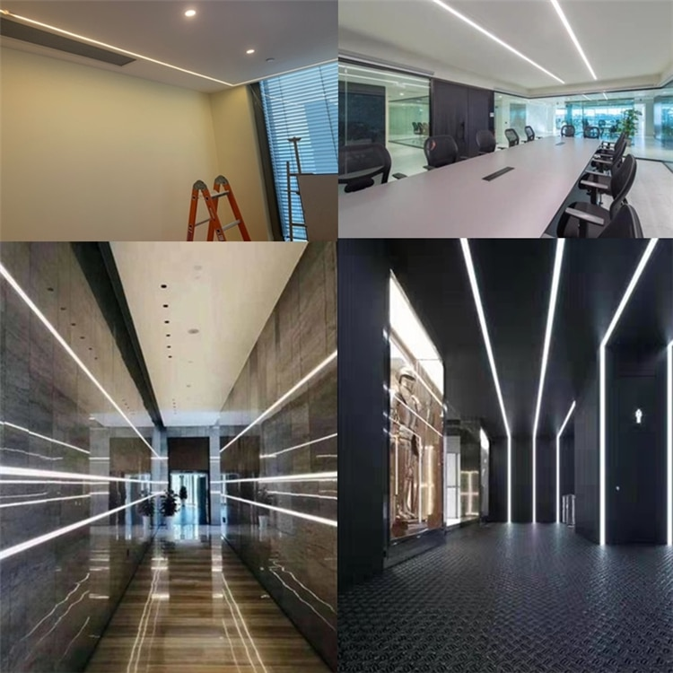 12VDC 16*16mm Neon Flex Tube,18W/M Recessed Positive Linear Strip,Flexible Silicone Housing Landscape Outline Dimmable LineLight