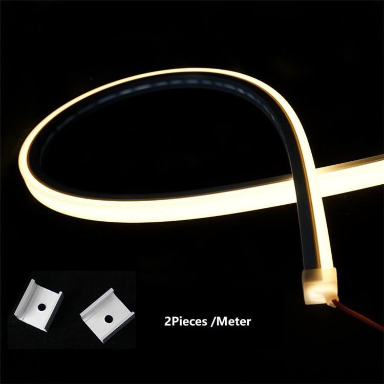 12VDC 14*14mm Neon Flex Rope,10W/M WaterProof Linear Strip,Flexible Silica Gel Landscape Outline 3 Side Emitting Line Bar Light