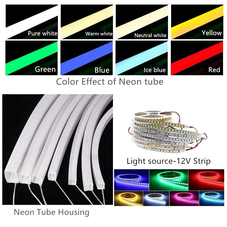12VDC 8*17mm Neon Flex Rope,10W/M Linear Strip,Flexible Silica Gel Landscape Outline Side Emitting LED Neon Tube Tape Light
