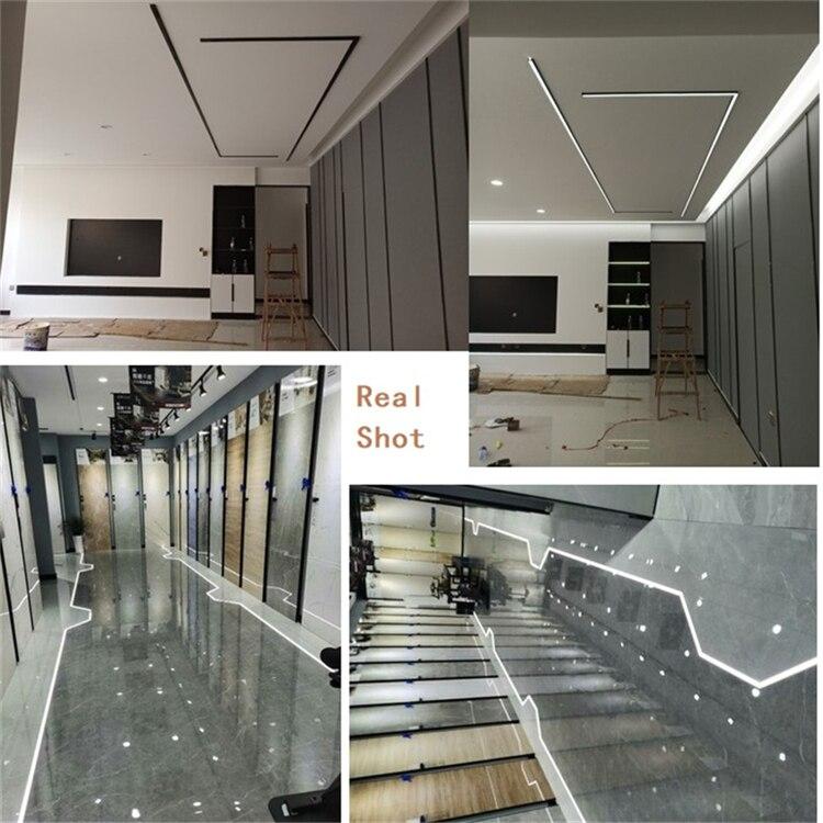 0.5m/20inch/1.64 feet black housing led aluminium profile,matte black cover for wall decoration 12V strip bar light channel