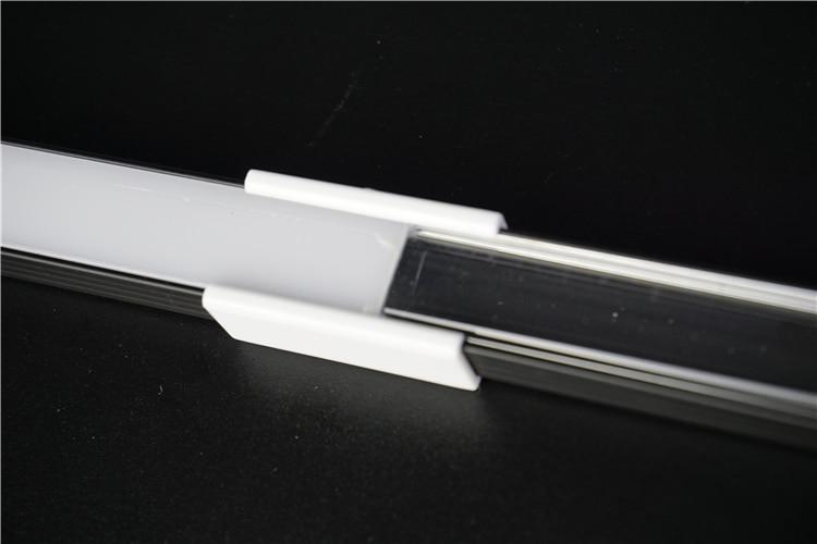 10-30pcs/lot 80inch 2m connective led bar light housing, anodized black slim flat led aluminium profile for 12mm 12v 24V strip