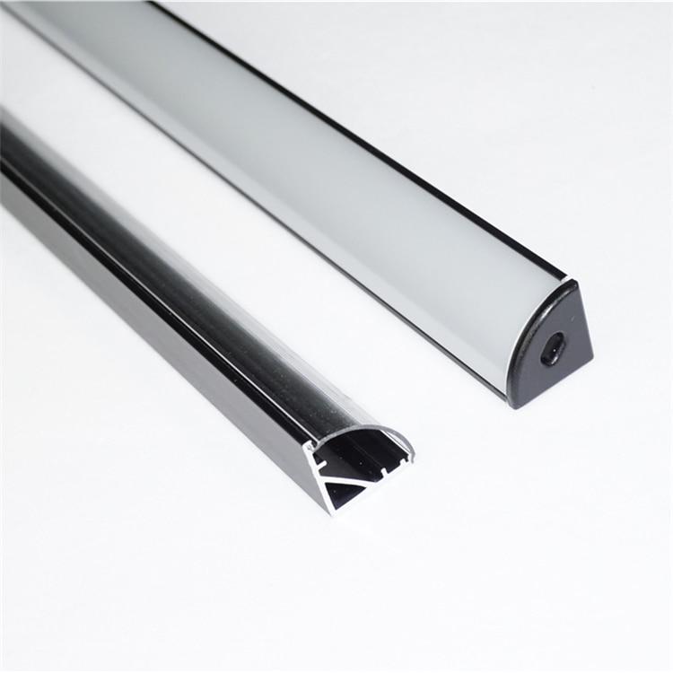 5Pieces 50CM 20 Inch Black V LED Aluminium Profile,Wall Desk Book Shoes Cabinet Tool Box Wardrobe Corner Tape Light Channel