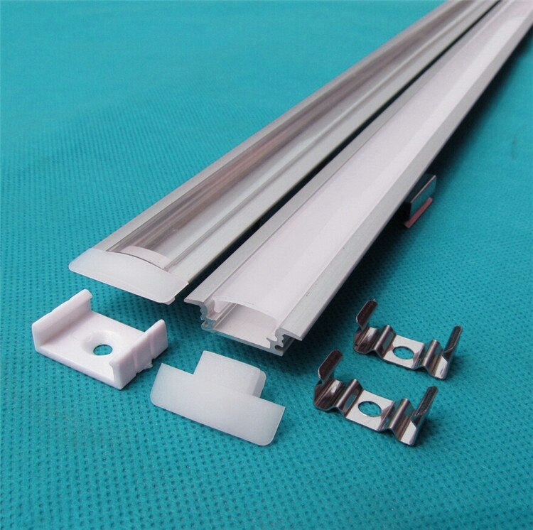 5-30PCS/lot 40inch 1m long anodized led aluminium profile for 5050/5630 strip ,12mm pcb built in embedded LED bar light