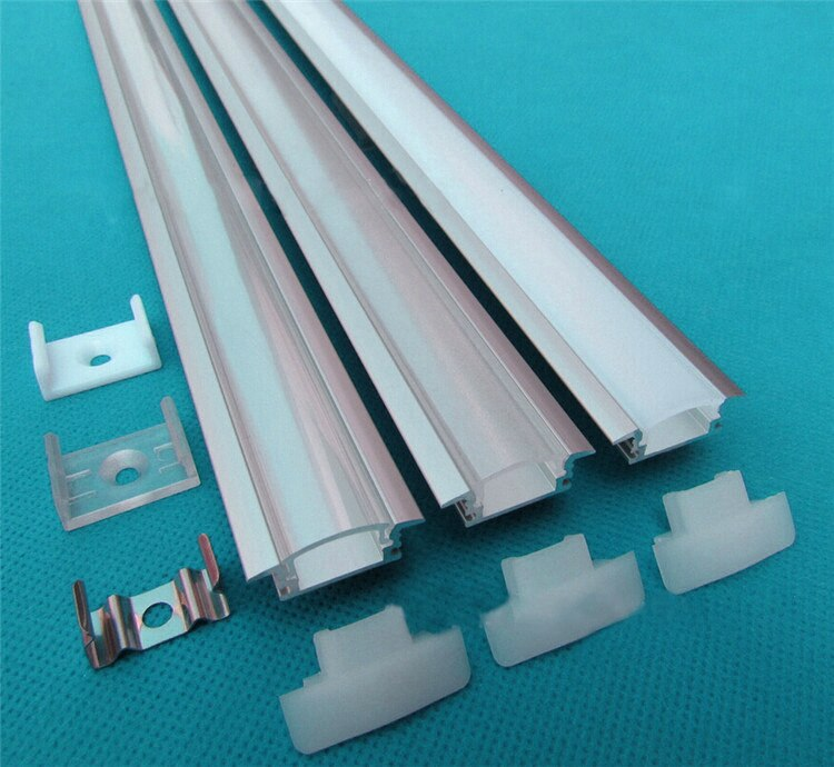 10pcs/lot 20inch 0.5m led aluminium profile for 3528/5050/5630 strip,led profile with cover for 12mm hard strip AP-24.5x7