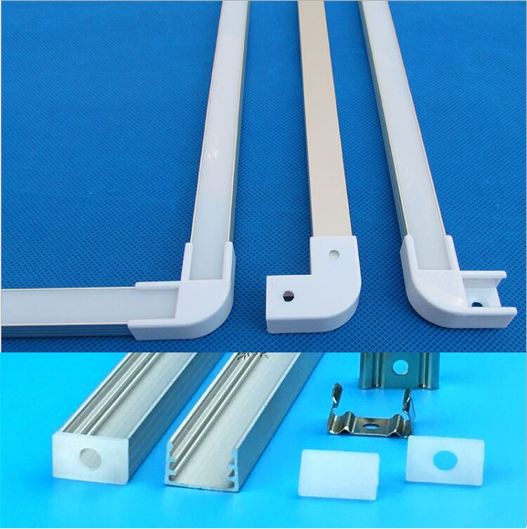 3-30pcs/Lot 20inch 0.5m Led Aluminium Profile For 3528/5050/5630 Strip,Bar Light With Cover, Linkable channel Housing
