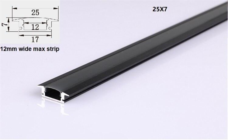 10pcs a lot ,2m/80inch per piece black housing led aluminium profile,matte black cover for decoration strip bar light channel