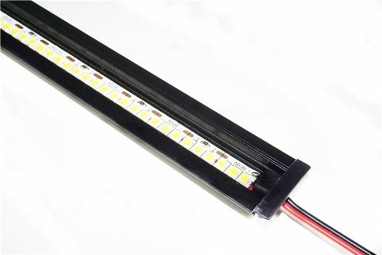 5pcs a lot ,0.5m/20inch per piece black housing led aluminium profile,matte cover for decoration wall strip bar light channel
