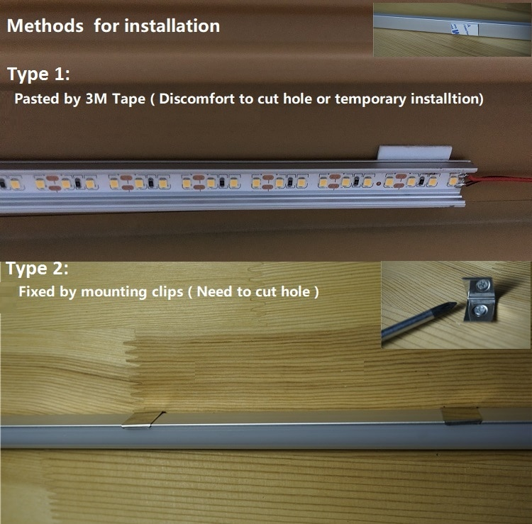 5Pieces 12/16/20 Inch YW Recessed LED Aluminium Profile 2811 2812 2813 6803 2801 6812 9822 Programmable Strip Embedded Channel