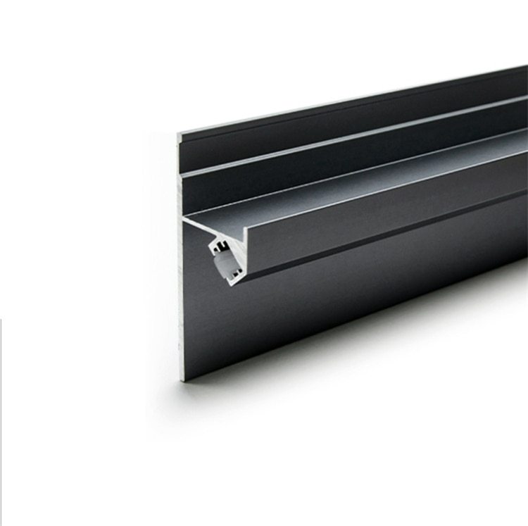 18Pieces 100cm 40 Inch 45Degree Skirting Line LED Aluminium Channel 18MM Panel DryWall Gypsum Board Base Linear Strip Profile